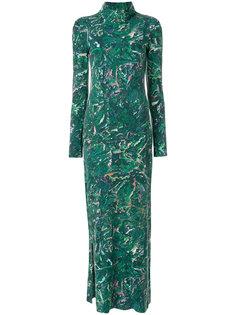 платье с отворотом и принтом  Y-3