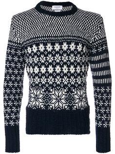 свитер с круглым вырезом с узором Thom Browne