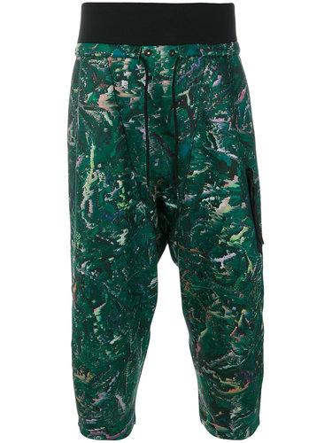 укороченные брюки с абстрактным принтом Y-3
