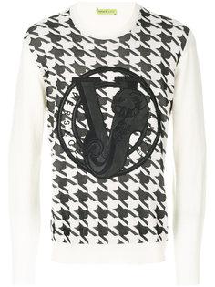 джемпер с изображением тигра Versace Jeans
