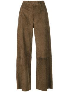 широкие укороченные брюки  Joseph