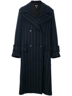 куртка в полоску с контрастным искусственным мехом  MSGM