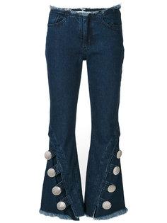 джинсы клеш с необработанными краями Marquesalmeida