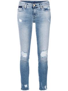 состаренные джинсы скинни  7 For All Mankind