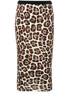 юбка-карандаш с леопардовым принтом  Michael Michael Kors