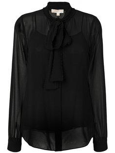 полупрозрачная блузка с завязкой  Michael Michael Kors