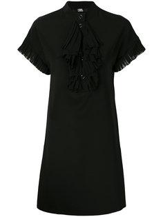 платье с короткими рукавами и оборкой  Karl Lagerfeld
