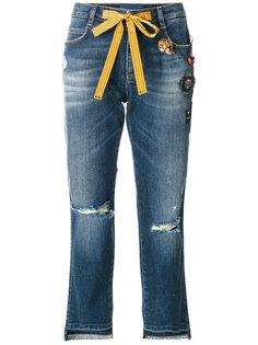 декорированные укороченные джинсы Ermanno Scervino