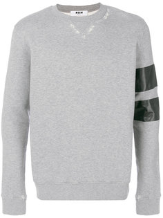 свитер с полосками на рукаве MSGM