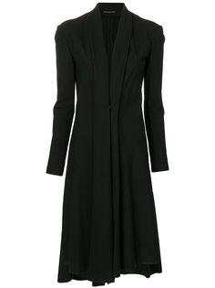 пальто со вставками  Yohji Yamamoto
