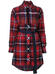 платье-рубашка в клетку Sacai