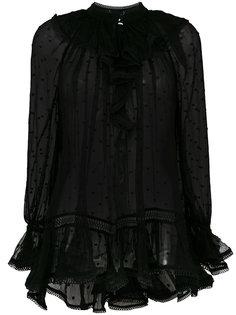полупрозрачная блузка  Zimmermann