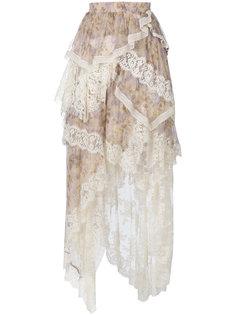 кружевная многослойная юбка  Zimmermann