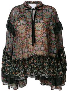 блузка с узором пейсли и оборками Perseverance London