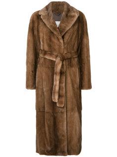 длинное пальто  Yves Salomon