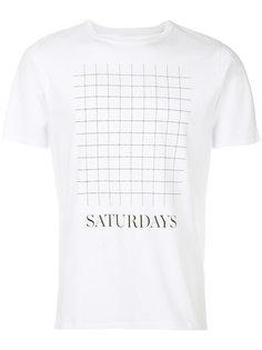 футболка с сетчатым принтом Saturdays Nyc