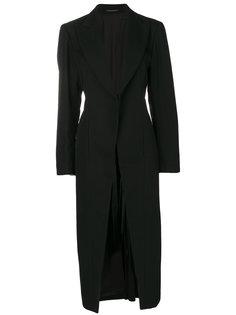 пальто со складками сзади  Yohji Yamamoto