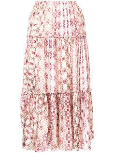 floral print pleated skirt  Astraet