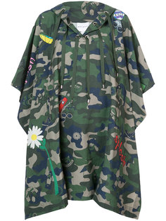 camouflage cape with graphics  Mira Mikati
