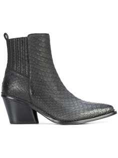 embossed ankle boots Sartore