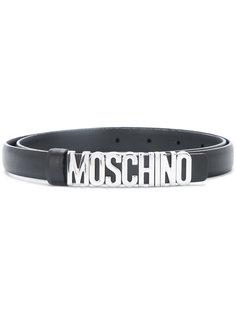 ремень с пряжкой-логотипом Moschino