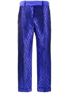 брюки с графической вышивкой  Haider Ackermann