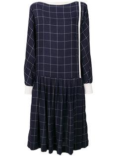 Krizia grid print dress Krizia Vintage