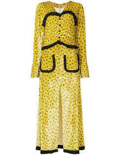 пальто с деталью под корсет Alessandra Rich