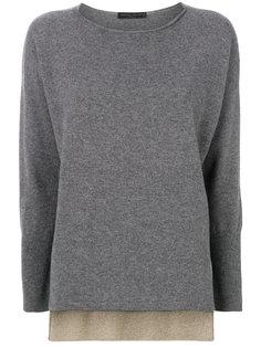 многослойный пуловер с прозрачной вставкой Fabiana Filippi