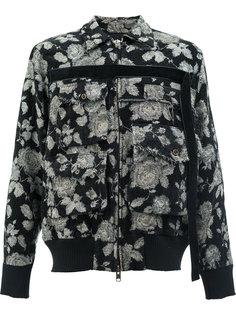 куртка-бомбер с цветочным принтом Song For The Mute