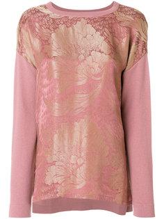 пуловер с цветочным принтом спереди Etro