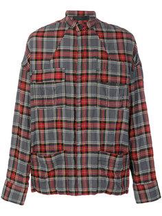 рубашка в шотландскую клетку с карманами Haider Ackermann