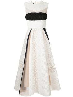 платье мини Kellan с прозрачными деталями Alex Perry