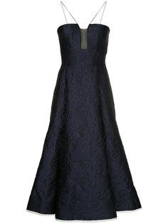 платье миди с цветочным узором Aaron Alex Perry