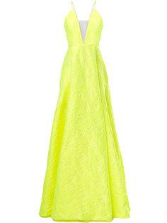 парчовое вечернее платье Fluoro Alex Perry