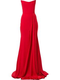 платье без бретелек с драпировкой Alex Alex Perry