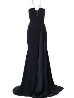длинное вечернее платье Ryland с драпировкой Alex Perry
