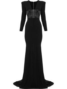 вечернее платье Easton с длинными рукавами Alex Perry