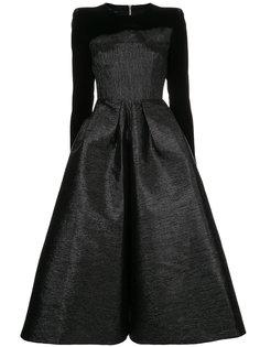 платье миди Garret с длинными рукавами Alex Perry