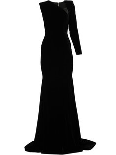 вечернее платье Felix с одним рукавом Alex Perry