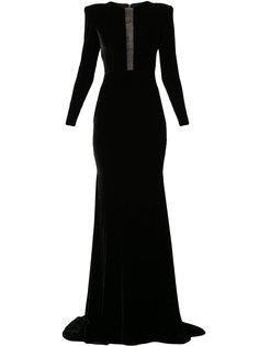 платье с длинными рукавами и драпировкой Donovan Alex Perry