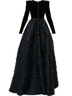 расклешенное платье с длинными рукавами Preston Alex Perry