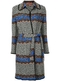 пальто с ремнем на поясе Missoni