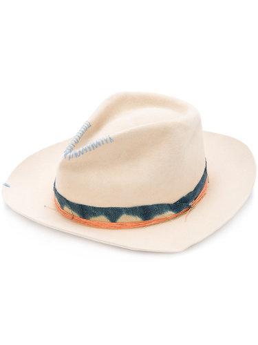 шляпа с контрастной лентой Nick Fouquet