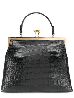 сумка-тоут на защелке с эффектом крокодиловой кожи Ermanno Scervino