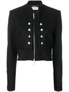 укороченная куртка милитари  Saint Laurent