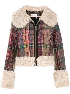 куртка в клетку  Chloé