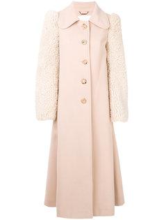 пальто с рукавами из овечьей шерсти  Chloé