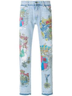 джинсы с принтом Dolce & Gabbana