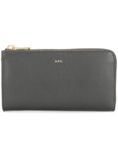 кошелек на молнии с бляшкой с логотипом A.P.C.
